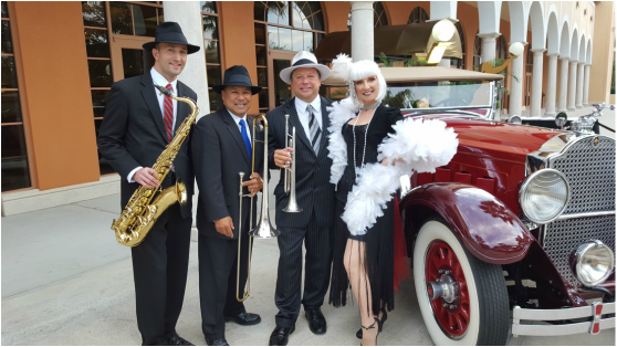 Gatsby Band Orlando, Speakeasy Band Orlando, St. Petersburg, Sarasota, Tampa, Clearwater, West Palm Beach, Palm Beach, Boca Raton, Daytona, Florida